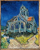 The Church at Auvers, by Vincent Van Gogh, 1890, 19th Century, oil on canvas, cm 94 x 74 . France, Ile de France, Paris, Muse dOrsay, RF 1951_42. All....