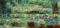 The White Water Lilies, by Claude Monet, 1899, 19th Century, oil on canvas, cm 89 x 93. Russia, Moscow, Pushkin Museum. Detail. Lilies body of water l...