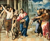 Christ Healing the Blind, by Domenico Theotokpulos known as El Greco, 1573 about, 16th Century, oil on canvas, cm 50 x 61. Italy, Emilia Romagna, Parm...