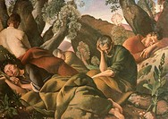 The Apostles, by Felice Carena, 1926, 20th Century, oil on canvas, cm 135,5 x 190. Italy, Tuscany, Florence, Palazzo Pitti, Gallery of Modern Art. All...