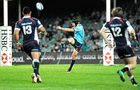 21 04 2012 Sydney, Australia Waratahs centre Berrick Barnes in action during the FxPro Super Rugby game between the New South Wales Waratahs and the M...