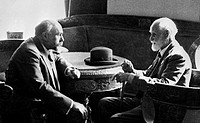 Physiologists Ivan Pavlov right and Leovon Orbeli photographed in 1935. Ivan Petrovich Pavlov 1849_1936 was a Russian psychologist and physiologist. H...