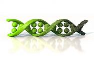 Damaged DNA, conceptual computer artwork.
