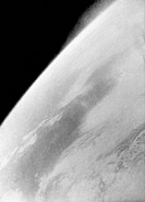 Earth from space. A view of the Earth photographed during the Voskhod_2 mission. Pavel Ivanovich Belyayev 1925_70 and Aleksei Arkhipovich Leonov b.193...