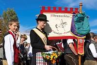 Traditional Costumes in Saalfelden, Pinzgau, Salzburger Land, Austria