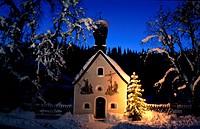 Chapel in Klais, Werdenfelser Land, Upper Bavaria, Germany