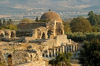 Ruins of Miletus, ruins of Ilyas Bey Mosque near the Greco-Roman amphitheater, near the village of Balat, Aydin Province, South Aegean coast, southwes...