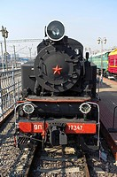 Russian steam locomotive 9P_17347, built in 1953