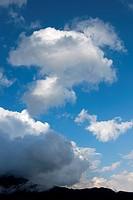 Blue sky and clouds of Shiretoko Pass