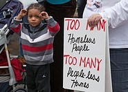 Detroit, Michigan - Protests against banks and foreclosures were part of a May Day march and rally