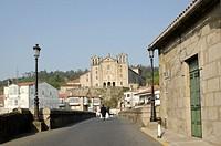 Europe, Spain, Galicia, Padron, Way of St James pilgrimage, Carme Bridge under Sar River
