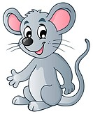 Cute cartoon mouse _ picture illustration.