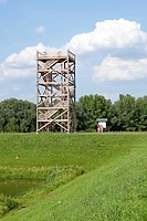 Viewing tower, Schnackenburg, Elbhoehen_Wendland Nature Park, Lower Saxony, Germany, Europe
