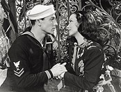 American actress Kathryn Grayson and American actor Gene Kelly in´AnchorsAweigh´, based on Natalie Marcin´s novel. 1945.