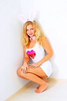 Sexy girl in a bunny costume
