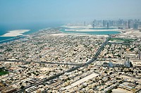 Dubai city from bird´s eye view