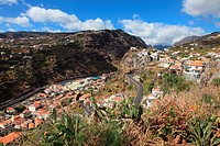 View from Above at Coastal Town, Ribeira Brava, Madeira, Portugal