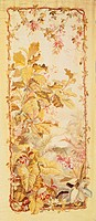 Nineteenth century vegetal pattern tapestry, manufacture of Aubusson.  Private Collection