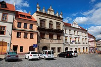 Town Square of Prachatice, Bohemia, Czech Republic, Europe