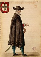 Portuguese ambassador, by Jan van Grevenbroeck or Giovanni Grevembroch 1731_1807, Gli Abiti de Veneziani, from illustrated book of costumes, watercolo...