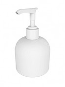 A render of an isolated plastic soap dispenser