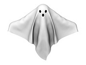 A render of a ghost made of sheets