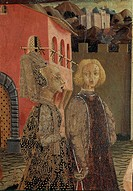 Master of Cassone Adimari, possibly Giovanni di Ser Giovanni, called lo Scheggia (1406-1486), Cassone Adimari, 1440-1450, tempera on panel, 88.5x303 c...