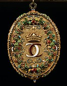 Goldsmith's art, 16th century. Picture frame  Vienna, Kunsthistorisches Museum (Museum Of Fine Arts)