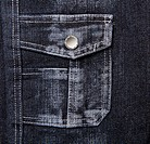 blue denim with a pocket. Abstract background