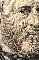 Ulysses S. Grant portrait as depicted on a US $50 Bill