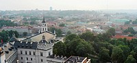 Vilnius Cathedral and old town view. Lithuania