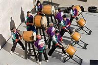 Japanese taiko drummers in Los Angeles, CA