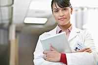 Portrait of female doctor in hospital