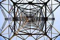 Abstract view of a power tower