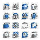 Internet, Computer and mobile phone icons _ Vector icon set
