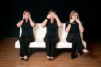 Three women - see no evil, hear no evil, speak no evil