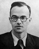 Klaus Emil Julius Fuchs 1911_1988, German nuclear physicist who was convicted in 1950 of passing UK and US atom bomb secrets to the USSR. Fuchs had fl...