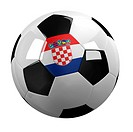 Soccer Ball with the flag of Croatia on it _ highly detailed clipping path included