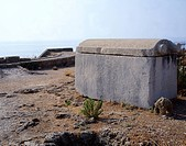 A sarcophagus at the royal necropolis of Byblos (UNESCO World Heritage List, 1984), made up of nine shaft tombs. Lebanon, 2nd Millennium BC.