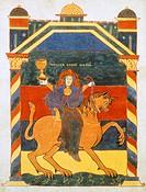 Page of the Book of Revelation by Saint Severo, 11th Century.  Paris, Bibliothèque Nationale De France (Library)