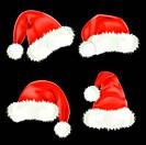 Santa Claus caps. Mesh.