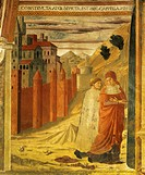 Stories of St Jerome, 1452, Benozzo Gozzoli (1421-1497), fresco. Chapel of St Jerome, the Church of San Francesco, Montefalco.  Montefalco, Museo Civi...