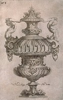 Amphora, by Horace Scoppa, etching.
