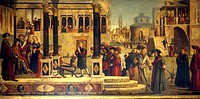 The Miracle of St Tryphonius, by Vittore Carpaccio (ca 1465-1525 or 1526). School of San Giorgio degli Schiavoni, Venice.