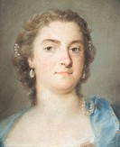 Portrait of Faustina Bordoni Hasse, 1731-1740, by Rosalba Carriera (1673-1757), pastel on paper, 47x35 cm.  Venice, Ca' Rezzonico (Museo Del Settecent...