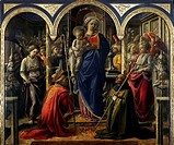 Madonna and Child with Angels and Saints, also called Our Lady of the Holy Spirit or Barbadori Altarpiece, 1438, by Filippo Lippi (ca 1406-1469), temp...
