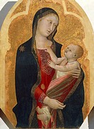 Madonna with Child, by Francesco Traini (active 1321-1365).  Pisa, Museo Nazionale Di San Matteo (Art Museum)