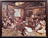 Cassava processing, 1892, by Modesto Brocos y Gomes (1852-1936), Brazil 19th Century.  Rio De Janeiro, Museu Nacional De Bellas Artes (National Fine A...