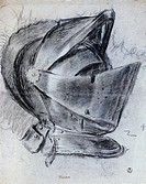 Helmet by Titian circa 1490_1576, drawing