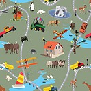 Big World For Little People _ Seamless Pattern